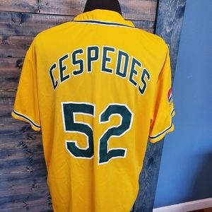 "Authentic  CESPEDES OAKLAND A""s yellow jersey XL"